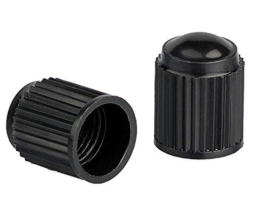 Xunits Ventilkappen Fahrrad – Schraderventil auch AV – Autoventil auch für MTB oder BMX Räder aus Plastik in schwarz – Set aus 10 Ventilen - 2