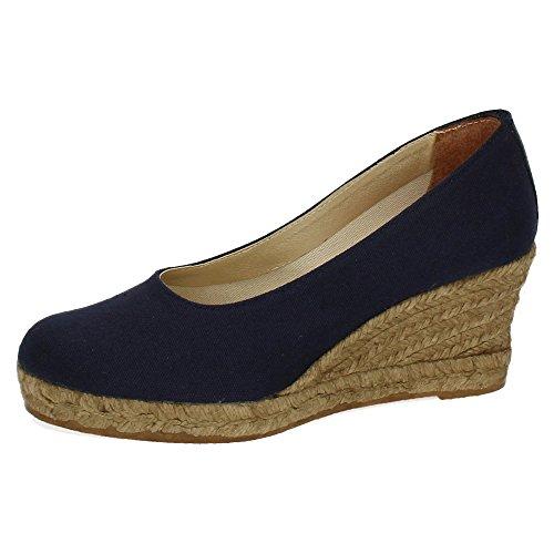 Torres 1414338 Zapatos Cuña Esparto Mujer Alpargatas Marino 38