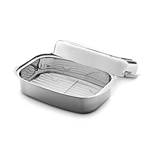 Stainless Steel Roaster 36x24x9 6 Cm 7 2l Induction