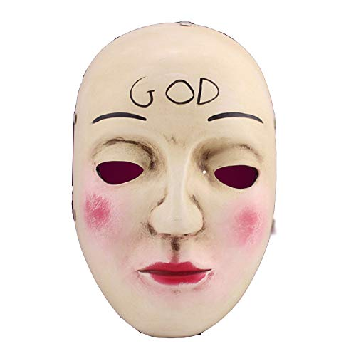 TINGTING Filmthema Körpermaske Halloween Collectors Edition Clearance Plan COS Human Smiley Harz Maske Karton Pack 17cm * 28cm,A