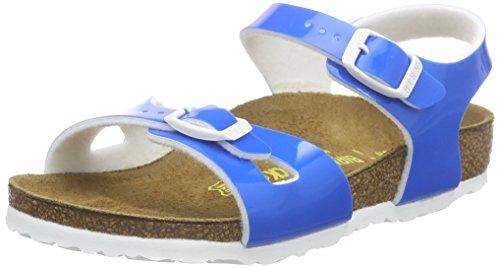 Birkenstock Rio Unisex-Kinder Sandalen, Blau (Lack Neon Blue), 31 EU ( 13 Child UK )