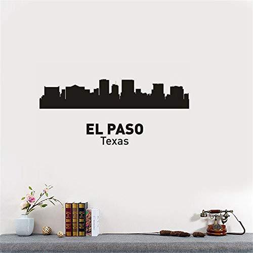 wandaufkleber 3d Wandtattoo Wohnzimmer El Paso City Decal Wahrzeichen Skyline Sketch Decals Poster Parede Home Decor für Wohnzimmer Schlafzimmer