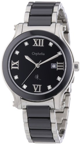 Orphelia Damen-Armbanduhr Elegant Crys Analog Keramik-Edelstahl-OR32271044