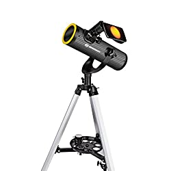 Bresser 4676359 Telescope Solarix 76/350 with Solar Filter for sun and night observing - Black
