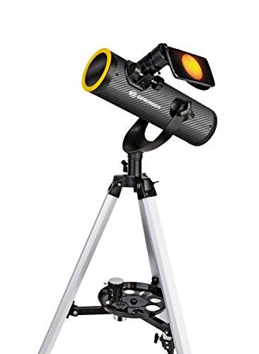 Bresser Teleskop Solarix AZ 76/350 mit Stativ für astonomische Beobachtungen bei Nacht und für Sonnenbeobachtung mit Spezial-Filter für gefahrlose Sonnenbeobachtung, inklusive umfangreichen Zubehör