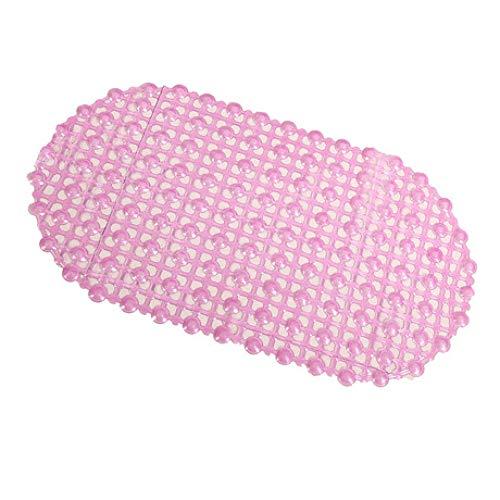 MICOKY Badematten Duschmatte oval blau PVC teppiche matten Bad Badewanne Anti-Rutsch-Pad mit Saugnapf 66 * 37 (Ovale Badewanne Bad Matte)