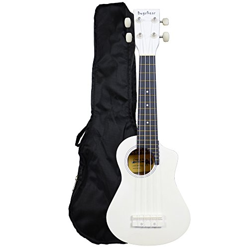 Bugs Gear SCG-UK11W - Ukelele (con funda), color blanco