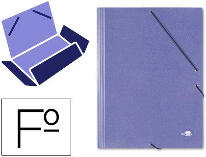 Liderpapel–Folio 3Gummizugmappe Carton Simil preßspanplatten blau