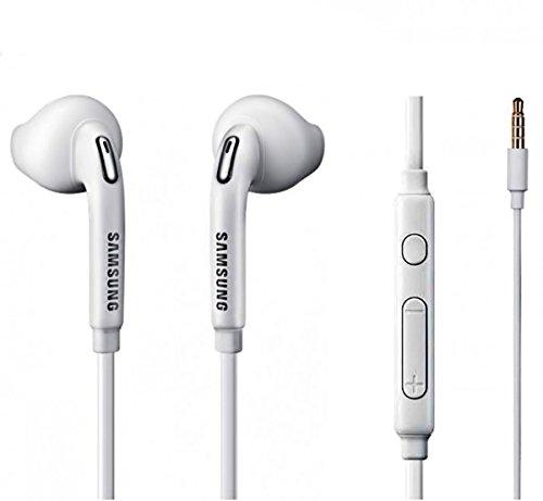 Samsung Premium Headset - Handy Stereo In-Ear Kopfhörer - Freisprecheinrichtung in Weiß für kompatible Samsung Mobiltelefone mit 3,5 mm Klinke