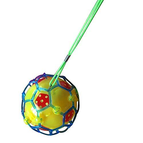 xMxDESiZ Glänzendes LED-Licht-Blinkender Musik-Ball-Springen, springendes Fußball-Baby scherzt Spielzeug Zufällige Farbe -