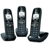 Gigaset AS470 trio - Téléphone fixe sans fil - 3 combinés - Noir