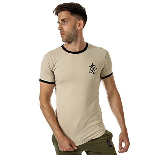 Gym King Camiseta - para Hombre Marrón Marrón Small