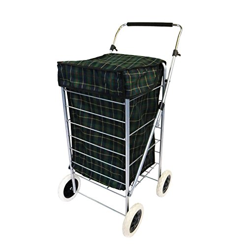 Oypla 4 Wheel Folding Shopping Mobility Trolley Bag Cart Market Laundry