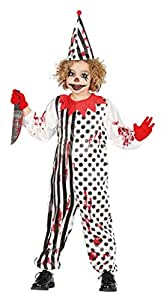 Fiestas Guirca Costume Clown Pagliaccio Killer per Travestimento Horror Halloween