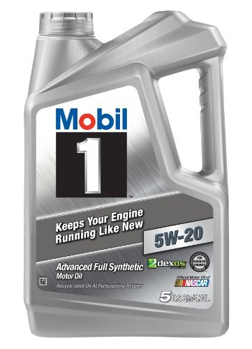 Mobil 1 120763 Synthetic Motor Oil 5W-20, 5 Quart by Mobil 1