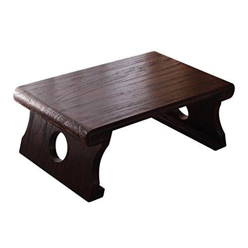 Table en bois de pin de style japonais de bois bureau de bureau d'ordinateur de fenêtre de baie table basse de table de thé de table de salon à la maison (Size : 80*50*30cm)
