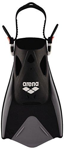 arena Unisex Schwimmflossen Fitness zum Training der Beine für Pool und Meer, schwarz (Black-Silver), S