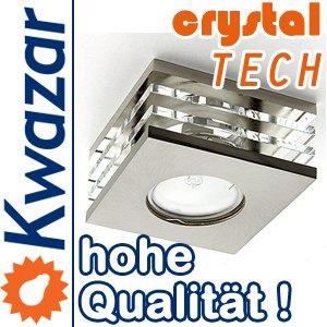 K-15 Einbaustrahler Einbauspot GU10 230V Farbe nickel matt gebürstet. Ideal für LED und Halogen. von Kwazar Leuchte - Lampenhans.de