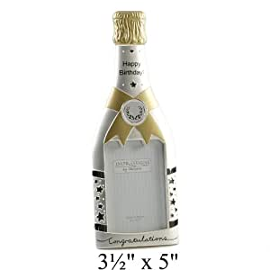 Happy Birthday Champagne Bouteille Cadre photo