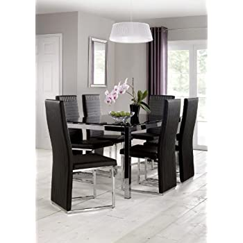 Julian Bowen Tempo, Set of 2 Dining Chairs, Black, One Size