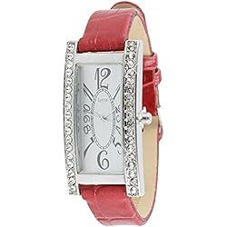 Luxury Women's Watch with Swarovski Crystal & Leather Bracelet