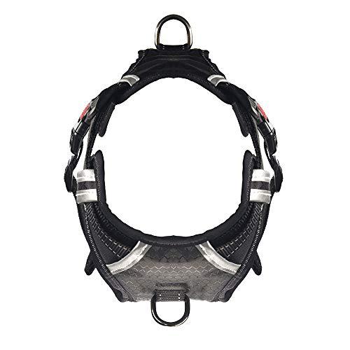 WJQ Pet-Vest Dog Chest Strap mit reflektiertem Explosion-Proof-Traktions-Rope-Doppel-Dekompression Licht-Atemschutzkomfort anpassbar