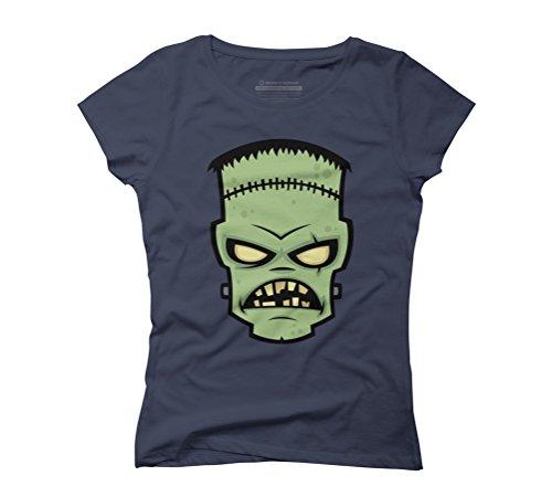 Frankenstein Monster Women's Graphic T-Shirt - Design By Humans Navy