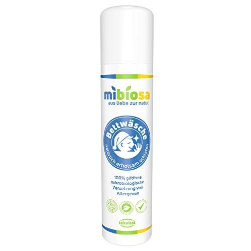 mibiosa BETTWÄSCHE - Mikrobiologisches Milbenspray | Milbenmittel | 100% giftfreie Wirkung