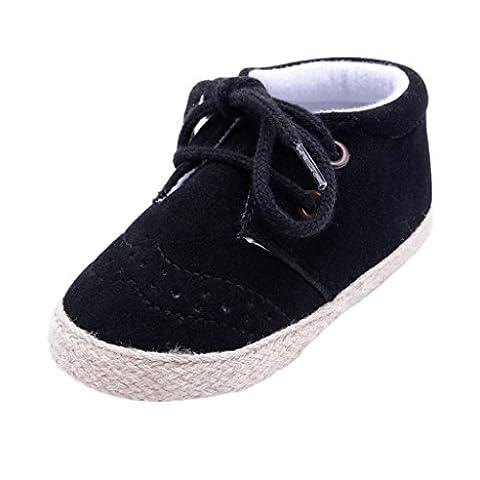Boys Shoes, SHOBDW Newborn Infant Baby Girls Boys Fashion Crib Soft Sole Anti-slip Sneakers Shoes (0-6 Months,