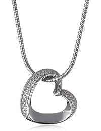 Esprit Damen-Halskette mit Anhänger Herz Enamor Around 925 Sterlingsilber 42-45cm 4442920
