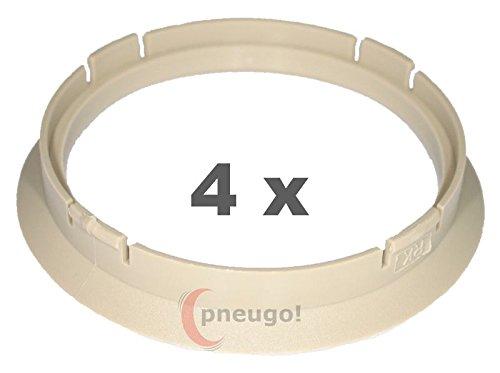 4 x Zentrierring Kunststoff 74.1mm auf 67.1mm beige