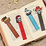 Pack of 12 - Pirate Ruler Bookmarks - Party Loot Bag Fillers