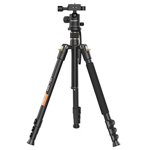 Treppiedi-Reflex-KF-Concept-per-fotocamera-Nero-in-Lega-di-Alluminio-Magnesio-in-Testa-a-Sfera-Leggero-Capacit-di-Carico-6-kg-in-Gambe-a-4-sezioni