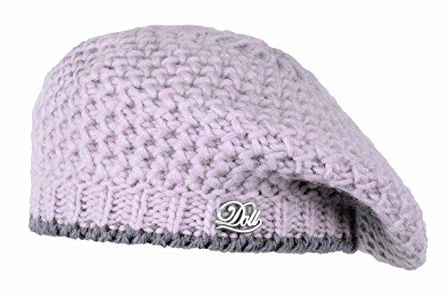 Döll Baskenmütze Strick - Bonnet - Fille Blanc (pastel Lilac 7080)