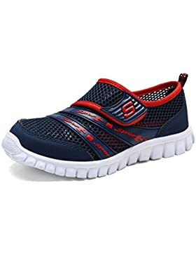 Eagsouni Unisex-niños Malla Transpirable Velcro/Zapatos del Ocio/Peso Ligero Transpirables Zapatillas