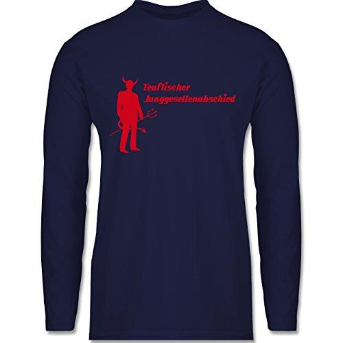 Shirtracer JGA Junggesellenabschied - Teuflischer Junggesellenabschied - Herren Langarmshirt Navy Blau