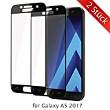 ykooe Galaxy A5 2017 Schutzfolie, (2 Stück) Panzerglas Samsung Galaxy A5 2017 Displayschutzfolie Anti-Fingerabdruck Full Coverage Screen Protector Folie für Samsung Galaxy A5 2017
