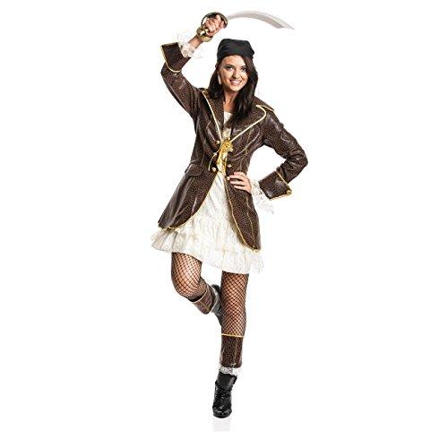 Kostümplanet® Piratin Kostüm Damen Piraten-kostüm Piratin Kostüm Erwachsene Größe (Für Piraten Männer Sexy Kostüme)