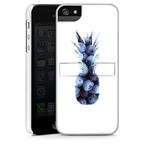 Apple iPhone 6 Silikon Hülle Case Schutzhülle Ananas Blaubeeren Muster Premium Case StandUp