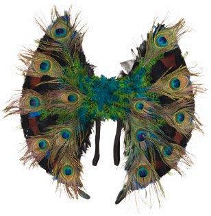 Orlob Kostüm Zubehör Flügel Paradiesvogel Pfau zu Karneval Fasching