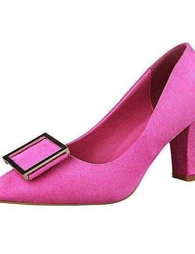 WSS 2016 Chaussures Femme-Décontracté-Noir / Marron / Rose / Rouge / Gris / Corail-Gros Talon-Talons-Talons-Cuir Verni gray-us8 / eu39 / uk6 / cn39
