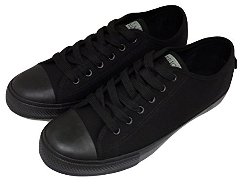 brigade-chef-clothing-front-of-house-trainers-black-uk-size-8-rubber-sole-canvas-upper