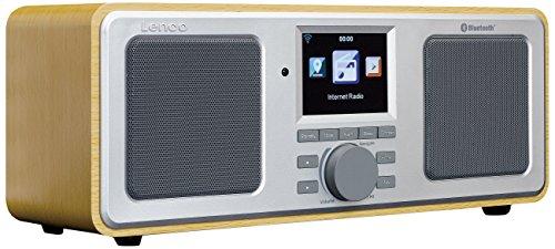 Lenco Internetradio DIR-150 UKW, mit WLAN und Bluetooth, Radiowecker und Wettervorhersage (7 cm TFT Farb-Display, USB, 2 Weckzeiten, UPnP kompatibel, AUX-Eingang, Line-Ausgang, Fernbedienung)