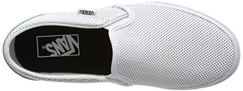 Vans Wm Asher, Sneakers Basses Femme Blanc (Perf Leather)