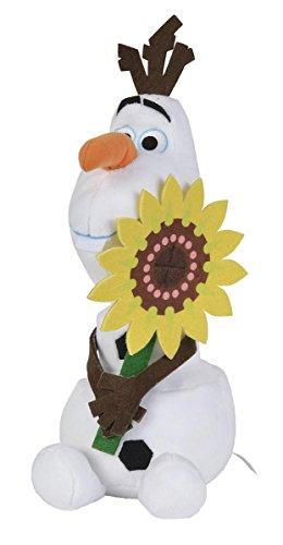 Simba 6315872458SON–Peluche Disney Frozen Olaf con girasole 25cm
