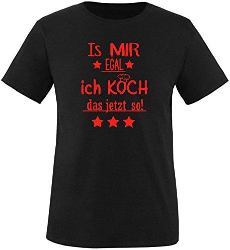 EZYshirt® Is mir Egal! Ich Koch das jetzt so Herren Rundhals T-Shirt Schwarz/Rot