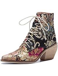 Motos Botas Mujer Y Amazon es Cuadros Zapatos Para xFwOOSRZAq