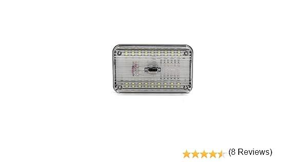 sourcingmap Bianco 36 SMD LED DC 12V rettangolare tetto a cupola luce di soffitto per interni auto