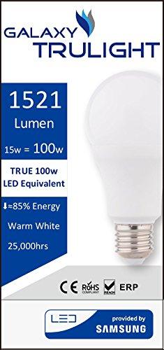 15W lampadina LED (100W equivalente) - Galaxy Trulight LED fornito da Samsung - bianco caldo