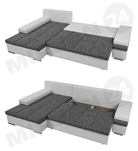 BANGKOK MINI Ecksofa mit Schlaffunktion und Bettkasten in L-Form